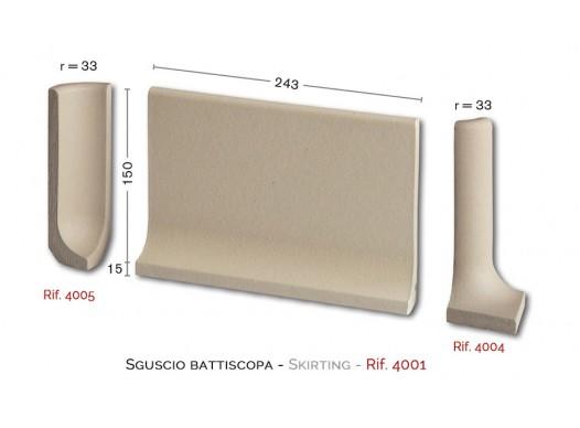 Sguscio battiscopa – Rif. 4001